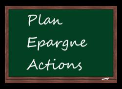 Plan épargne actions sur tableau